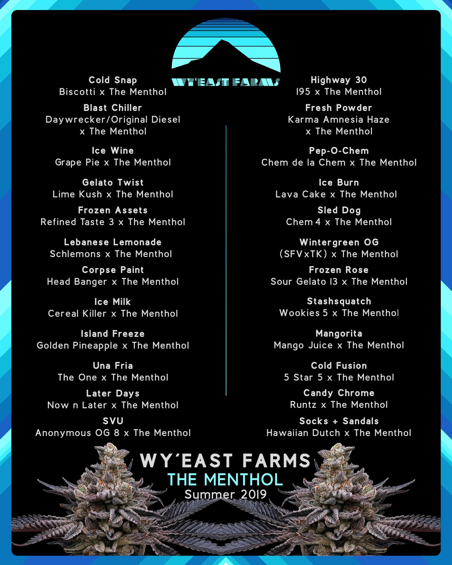 Wy'East Farms - The Menthol - menu Summer 2019